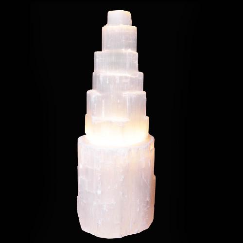 Selenite Lamp 26cm