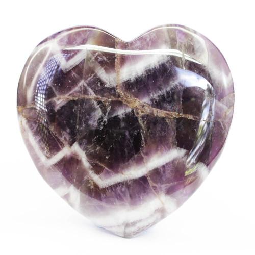 Chevron Amethyst Heart 3