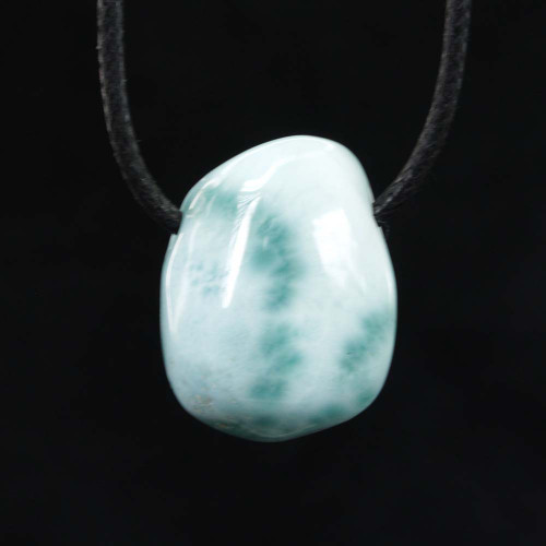 Larimar Drilled Tumbled Pendant 6