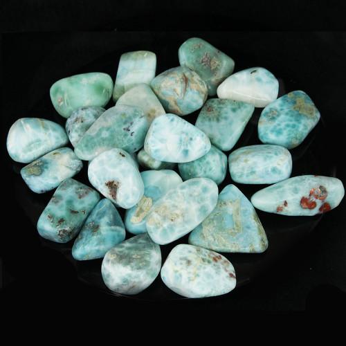Larimar Tumbled Stone Medium 30