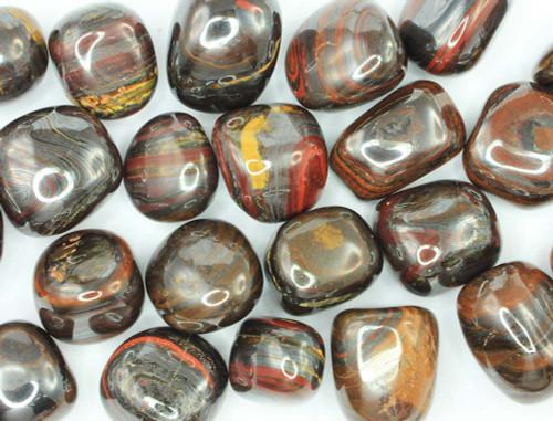 Tiger Iron Tumbled Stone