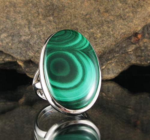 Malachite Ring 10