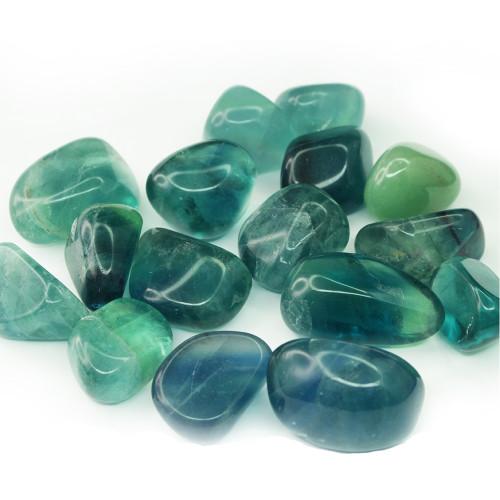 Blue Fluorite Tumbled Stone