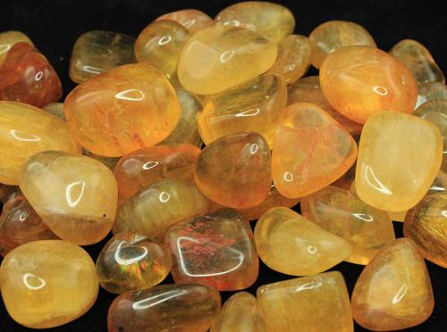 Yellow Fluorite Tumbled Stone