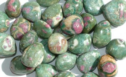 Ruby Fuschite Tumbled Stone