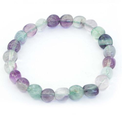 Rainbow Fluorite Pebble Bracelet 9