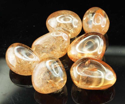 Golden Aura Tumbled Stones
