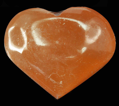 Orange Selenite Heart 1