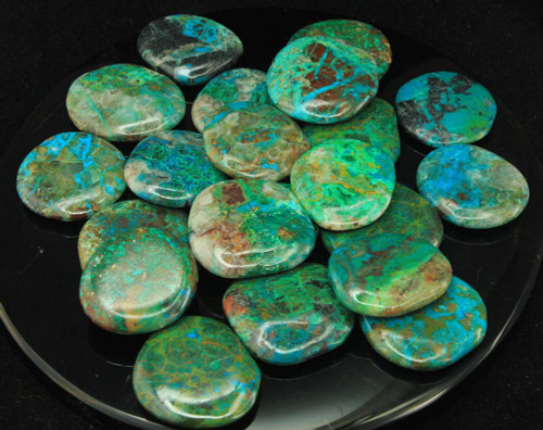 Small Chrysocolla Flat Stones