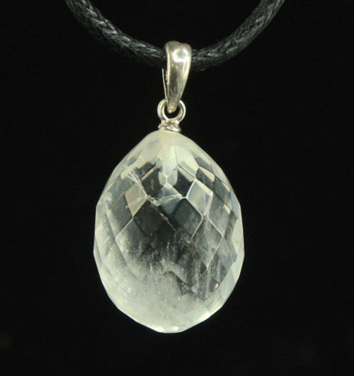 Clear Quartz Faceted Pendant 5