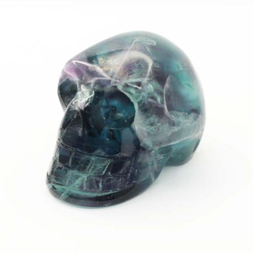 Rainbow Fluorite Skull 11
