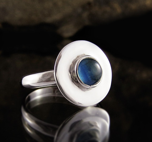 Australian Blue Kyanite Ring