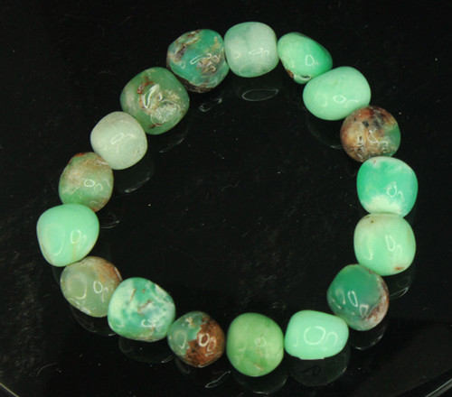 Chrysoprase Pebble Bracelet