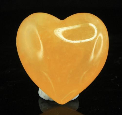 Orange Calcite Heart 3