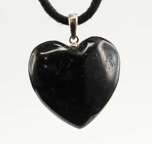 Black Tourmaline Heart Pendant 1