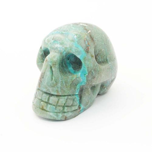 Chrysocolla Skull 9