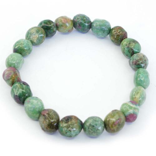 Ruby Fuschite Pebble Bracelet 4