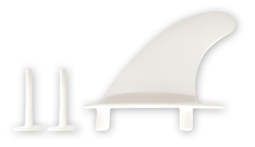 Softboard Small Fin (White) + 2x Screws