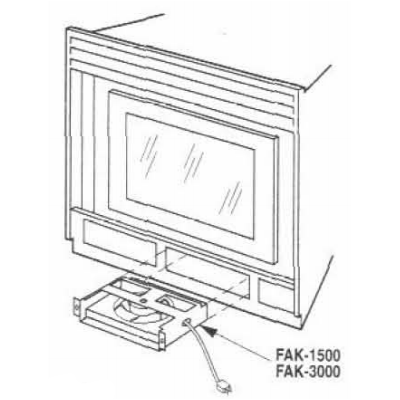 FAK-1500, FAK-3000 Forced Air Fan Kit for Lennox and Superior Fireplaces