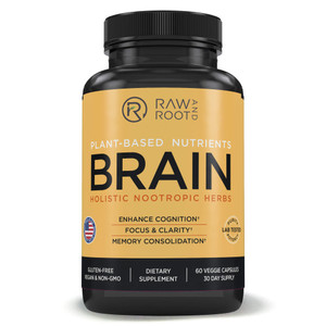 Raw and Root Plant-Based Nutrients Brain Holistic Nootropic Herbs