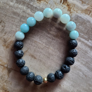 Amazonite + Lava Rock Bracelet