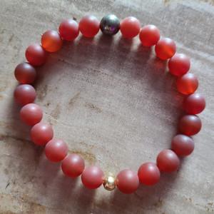 Carnelian + Pyrite Bracelet