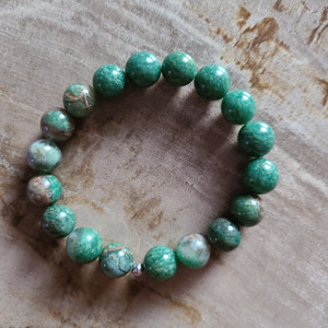 African Jade Bracelet (polished, 10mm)