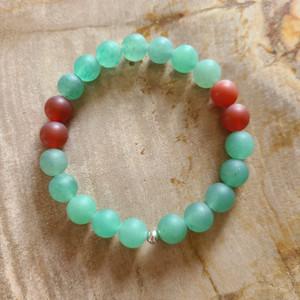 Green Adventurine + Carnelian Bracelet