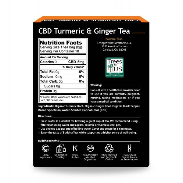 CBD Turmeric & Ginger Tea