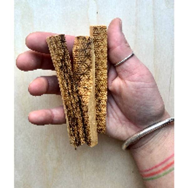 Palo Santo Wood Stick with Flower of Life Design