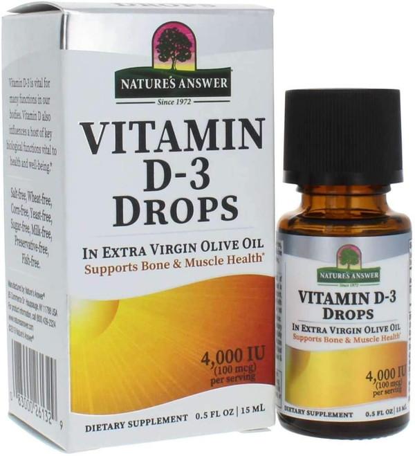 Vitamin D-3 Drops 4,000 IU