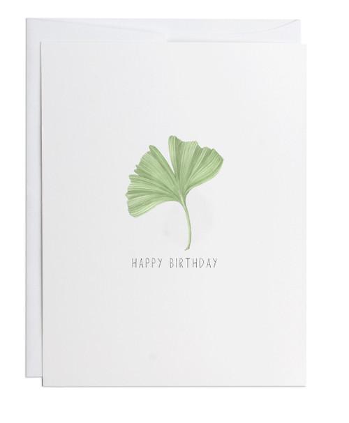 Happy Birthday Ginkgo Greeting Card