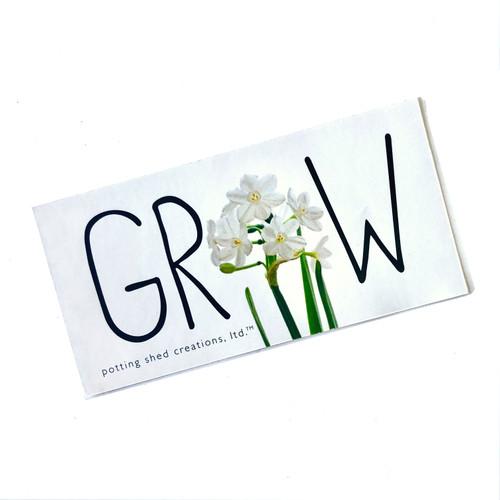 Paperwhite Grow Sticker