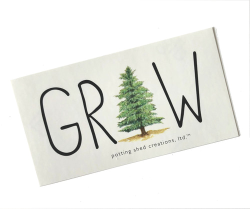 Tree Cone Grow Sticker