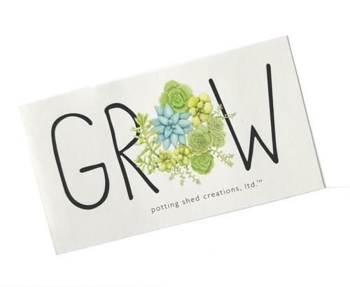 Sedum Grow Sticker
