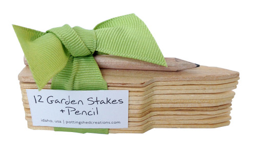 Twelve Garden Stakes and Pencil