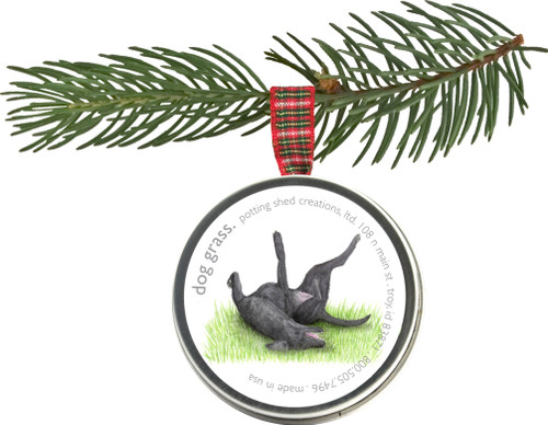 Pet Ornaments Dog Grass