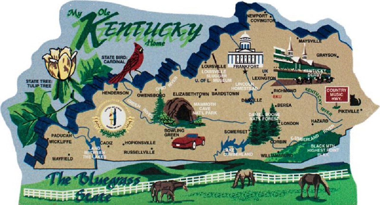 United States Map, Kentucky Bluegr State on mississippi in kentucky, road map in kentucky, butterflies in kentucky, weather in kentucky, dinosaurs in kentucky, animals in kentucky, usa map in honduras,