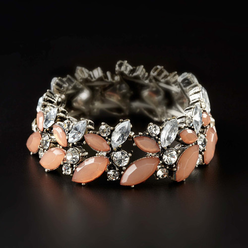 Enesco Expandable Large Blush Cluster Bracelet #4052094
