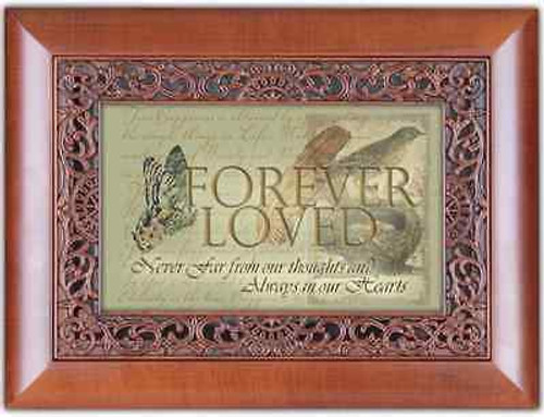 Forever Loved Cottage Garden ORN Woodgrain Music Jewelry Box What A Friend Jesus
