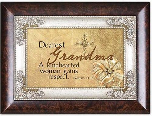 Grandma Cottage Garden Italian Wood Music Jewelry Box You Light up My Life NEW