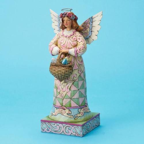 Jim Shore Easter Angel w/Basket Eggs Joyful Spirit NIB