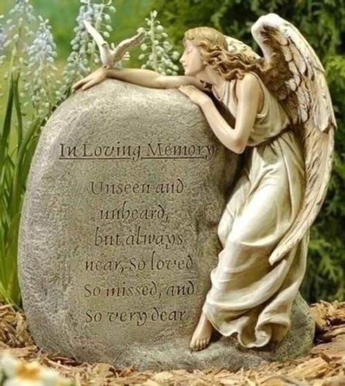 Joseph's Studio ROMAN Memorial Garden Stone Angel Unseen Unheard Always Near NIB