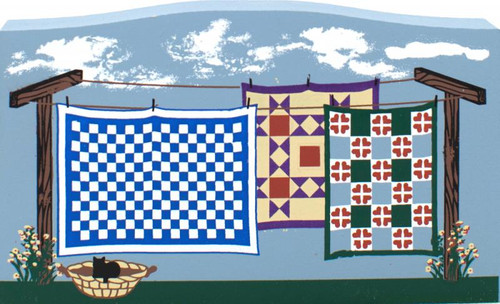 Amish Clothesline of Quilts