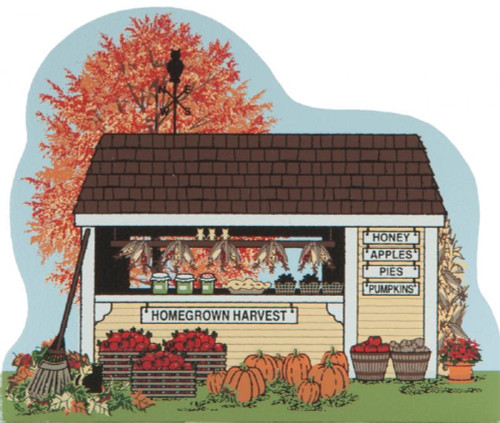 Cat's Meow Village Shelf Sitter - Fall Homegrown Harvest Scene CC10