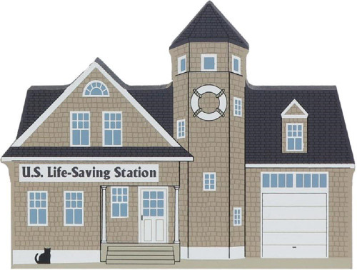 Cat's Meow Village Shelf Sitter Barnegat US Life-Saving Station #05-622