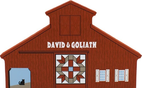 David & Goliath Quilt Barn, Cat's Meow Village Shelf Sitter #11-511