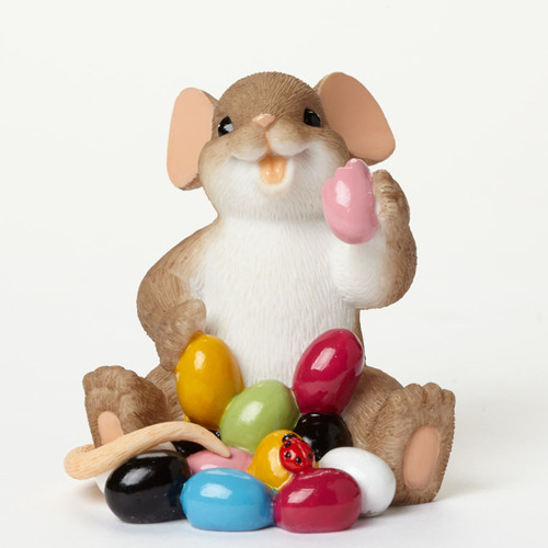 """Charming Tails Mouse Mice Little Doodle Bug """"I Love My Yum Yums!"""" - 4043856"""
