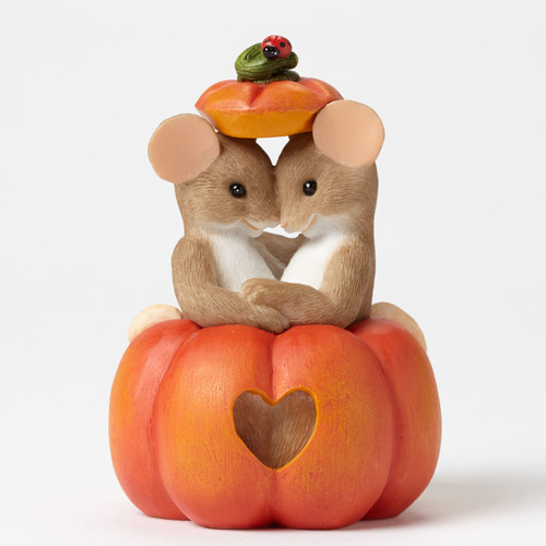 "Charming Tails Mouse Figure HALLOWEEN ""Pumpkin, I Love It When We See Eye, To Eye"" 4046782"