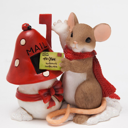 "Charming Tails Mouse Mice CHRISTMAS ""Couldn't Let The Season Go By Without A Little Holiday Hi"" 4046944"